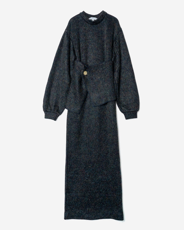 Mohair Knitting Dress in Navy