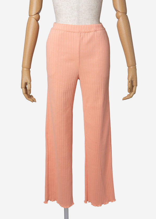Random Rib Pants in Orange