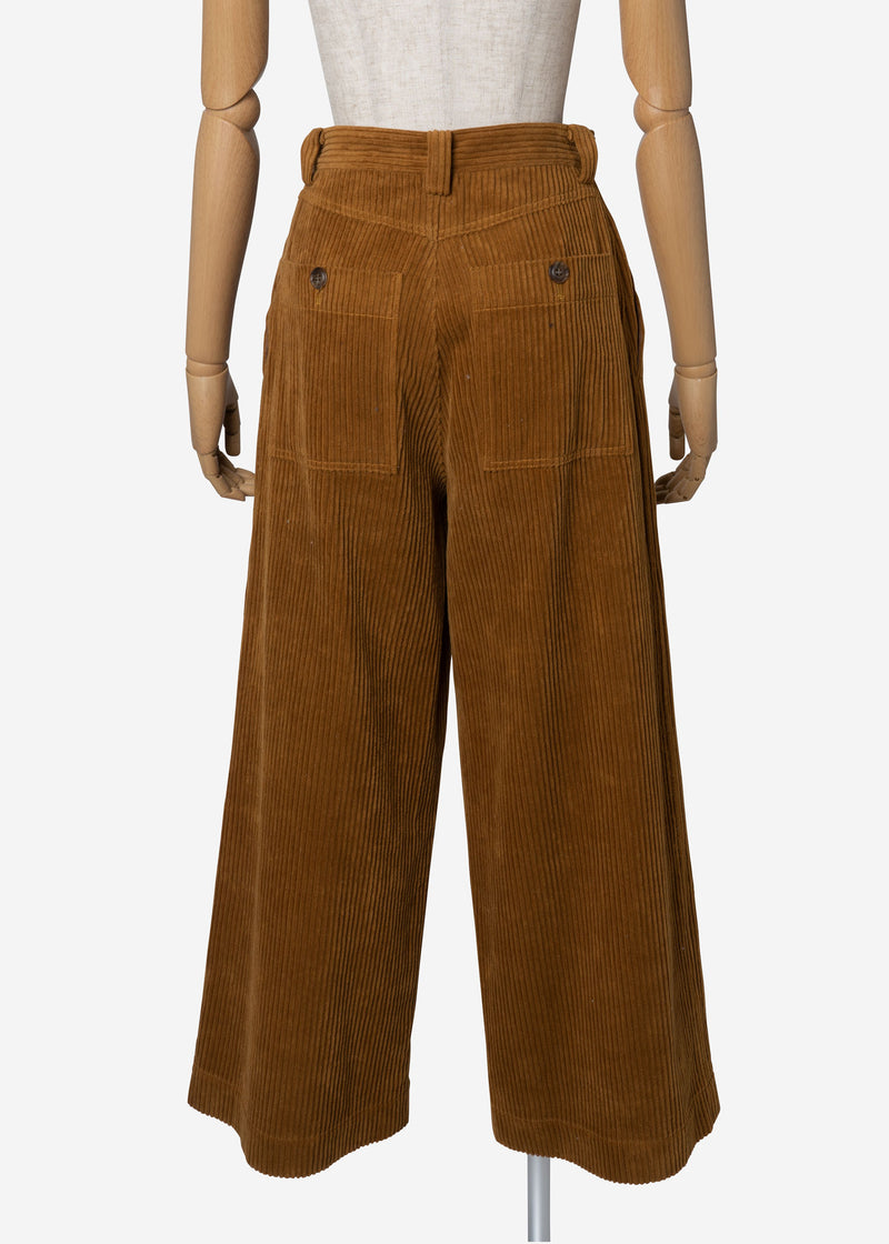 Classic Corduroy Wide Pants in Camel