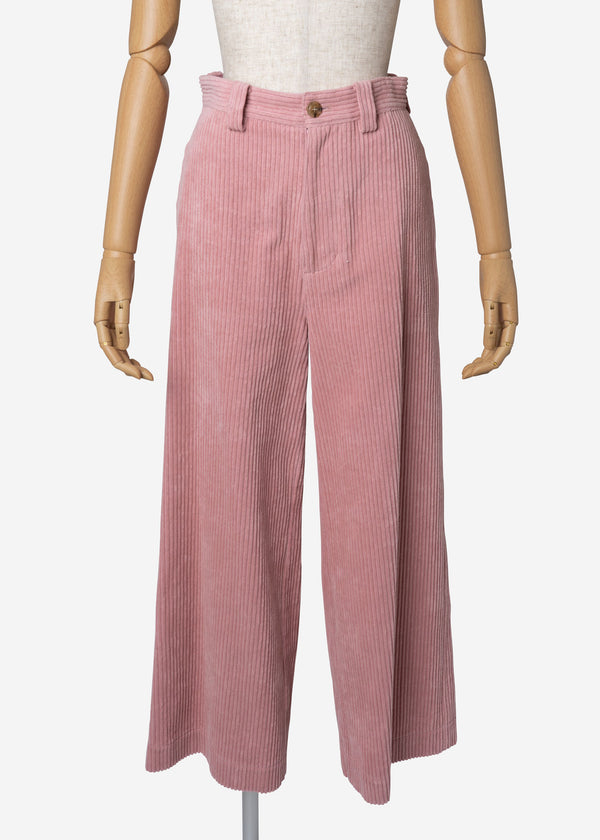 Classic Corduroy Wide Pants in Pink
