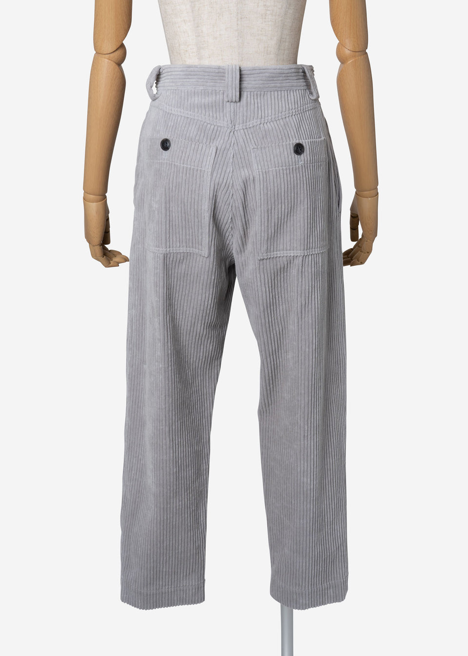 Classic Corduroy Balloon Pants in Gray