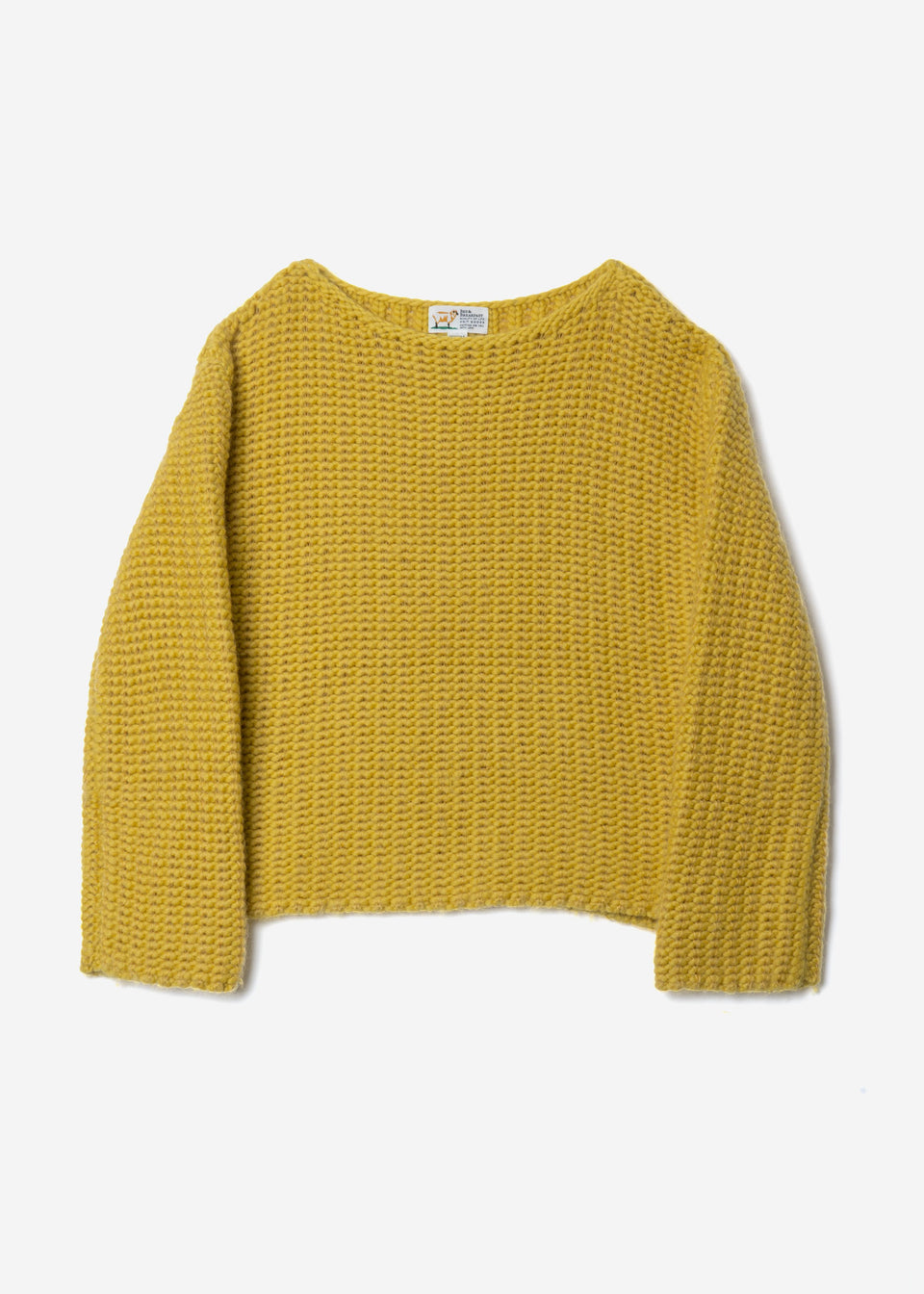 Roving Mohair Knit Tops in Yellow