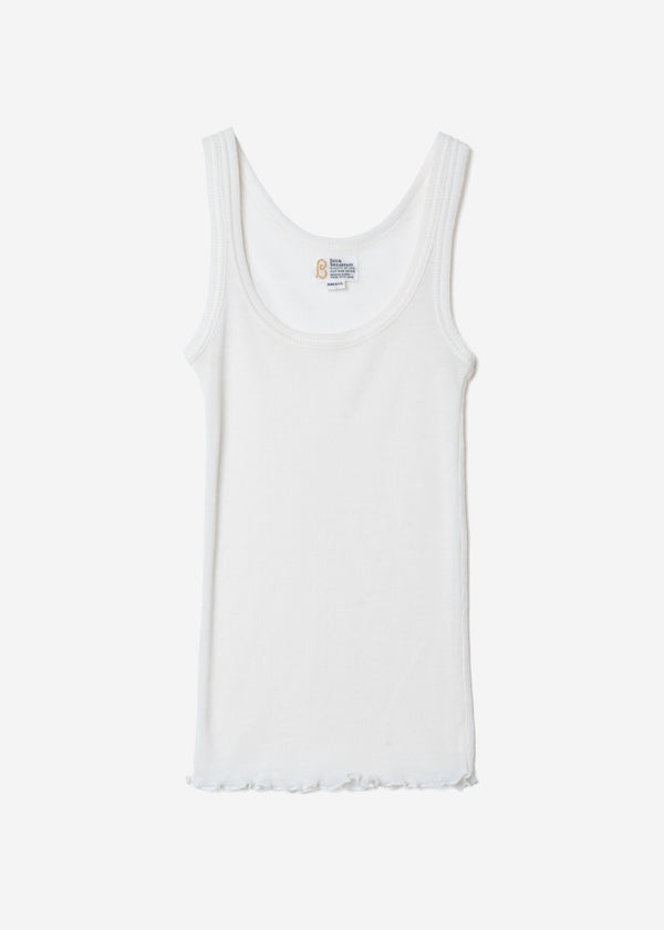 Super Wool Rib Sleeveless In White