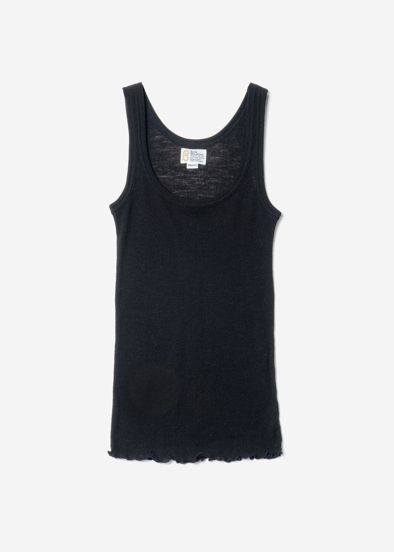 Super Wool Rib Sleeveless In Black