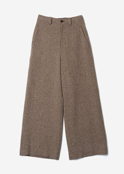 Jazz Nep Tweed Wide Pants In Beige Mix