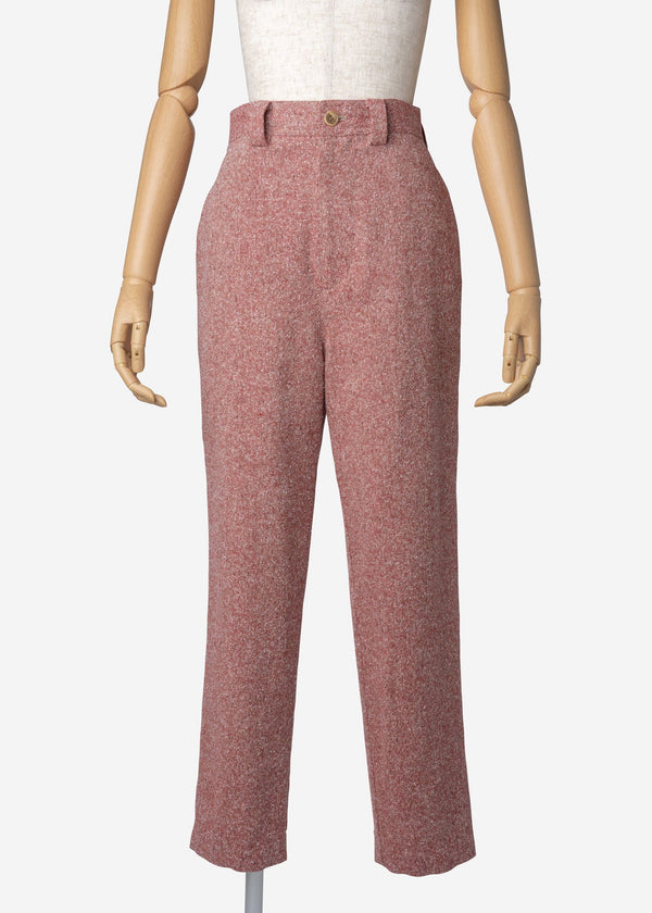 Jazz Nep Tweed Balloon Pants In Red Mix