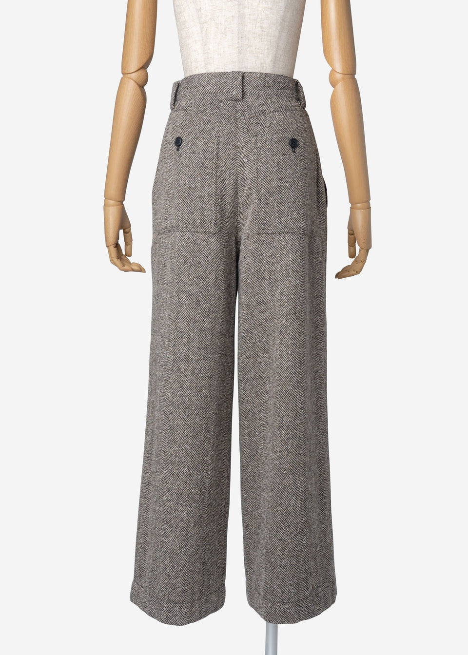 Jazz Nep Tweed Wide Pants In Black Mix