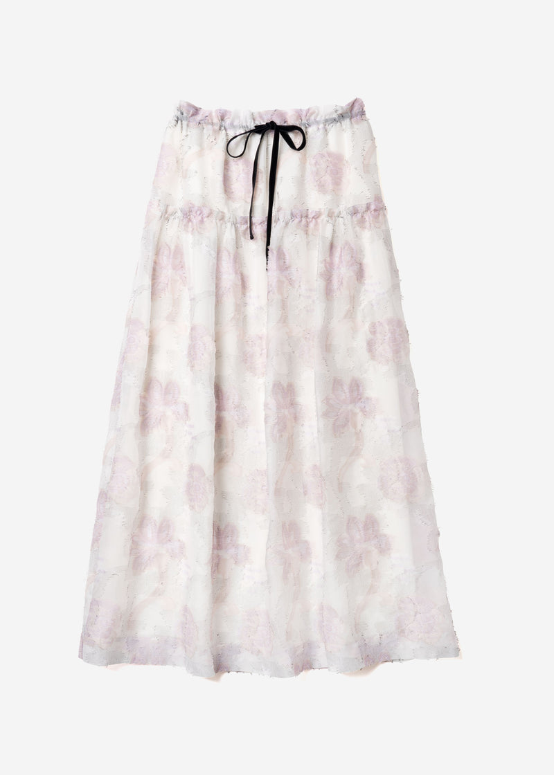 Limited Pastel Jacquard Gather Skirt in Other