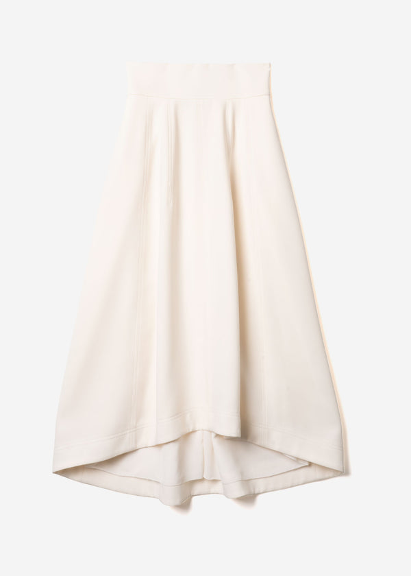 Double Weave Balloon Skirt in Ivory