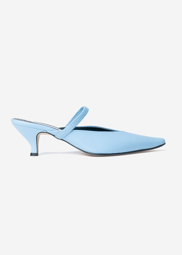 Band Mules in Light Blue