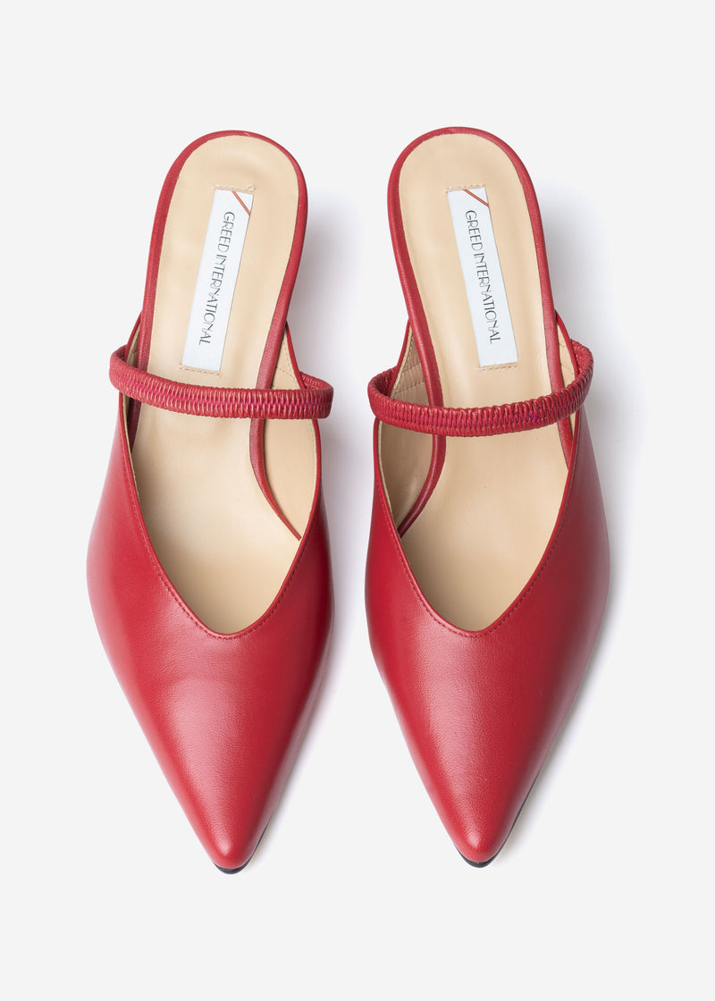 Band Mules in Red