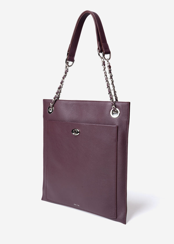 Square ‎Shoulder Bag in Brown
