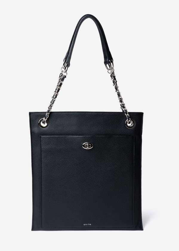 Square ‎Shoulder Bag in Black