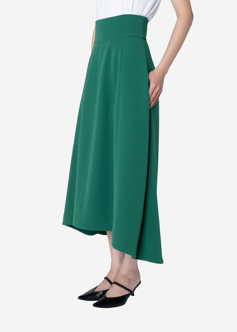Double Weave Balloon Skirt in Green