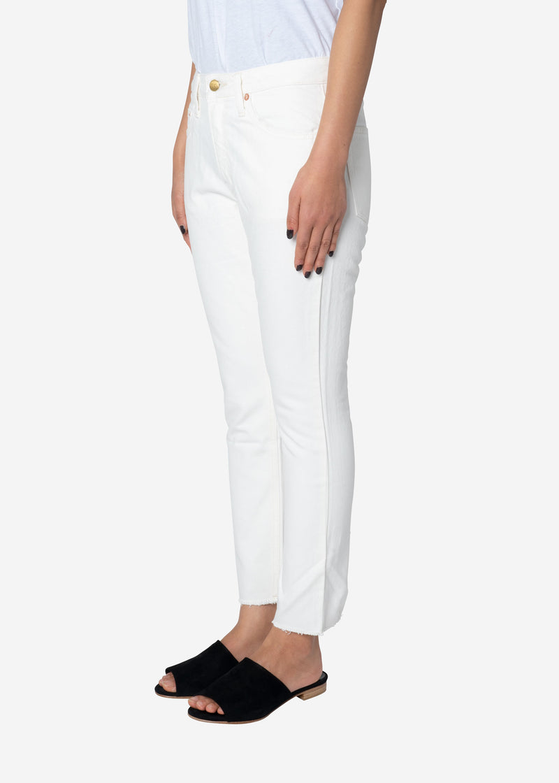 Standard Cropped White Denim