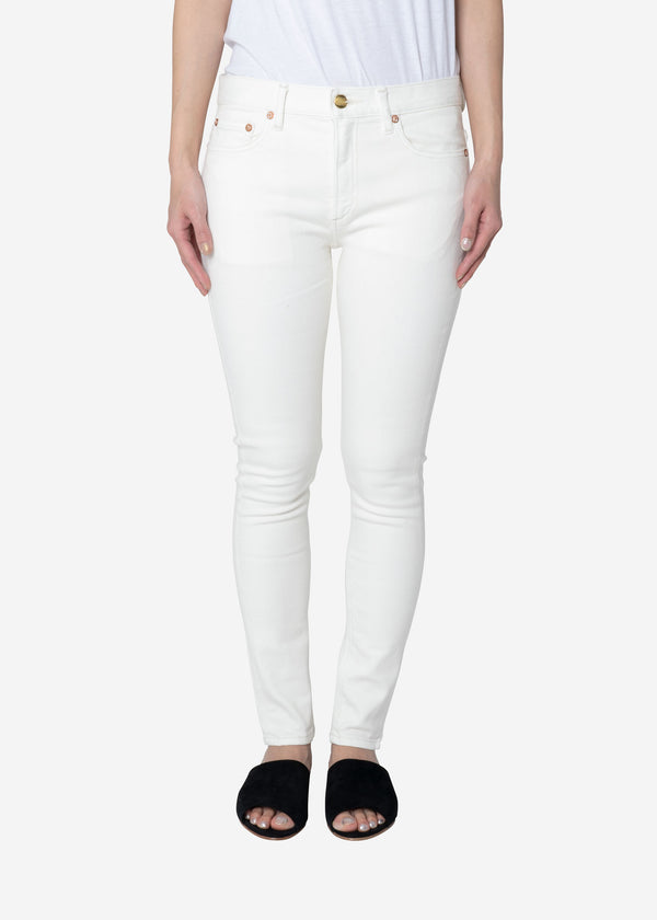 Standard High Stretch One Wash White Denim