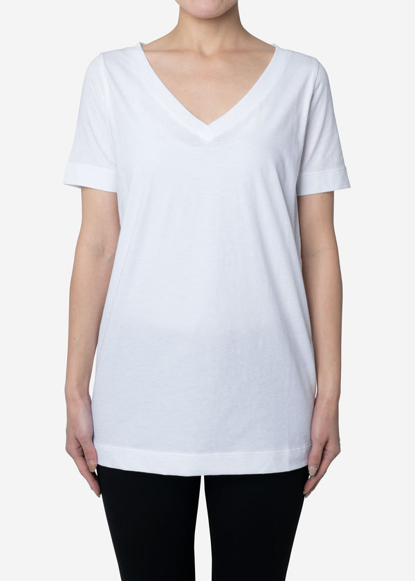 Technorama Standard V-neck Tee Dress in White