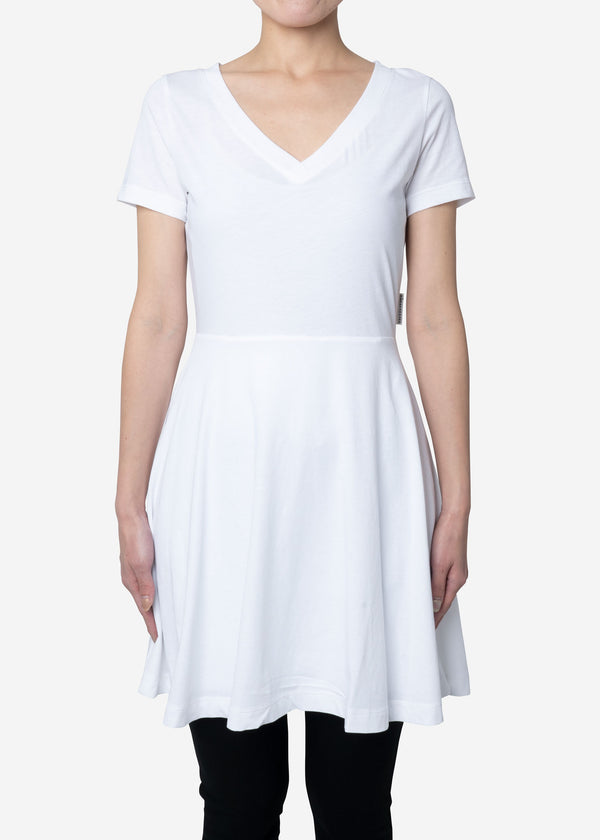 Technorama Standard Flared Skirt Dress in White