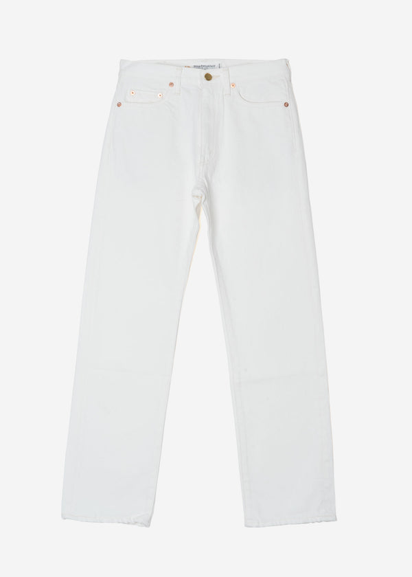 Standard One Wash White Mom's Denim