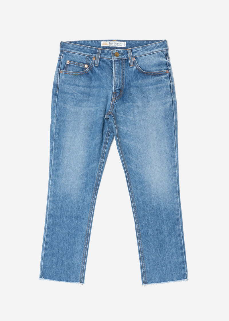 Standard Cropped Denim in Indigo