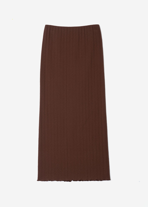 Twist Links Pencil Skirt in Brown
