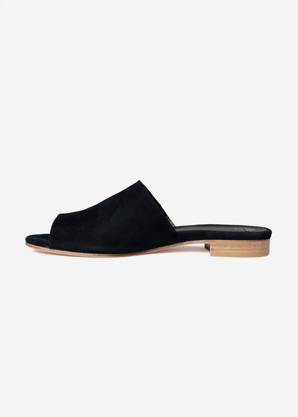 Suede Sandals in Black
