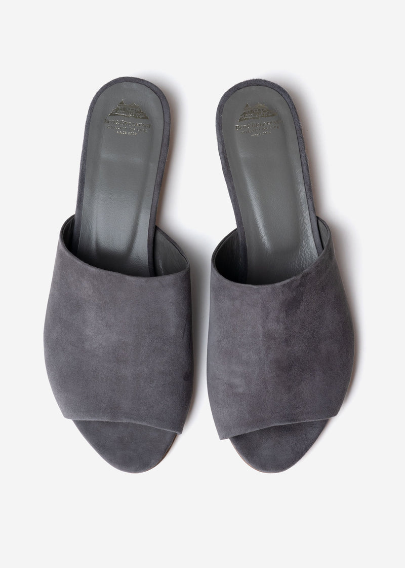 Suede Sandals in Gray