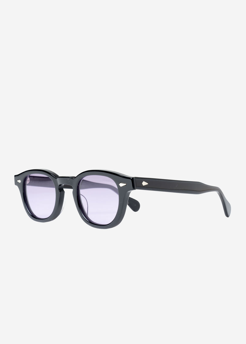 Julius Tart×Bed&Brekfast Sunglasses in Black Frame×Purple Lens