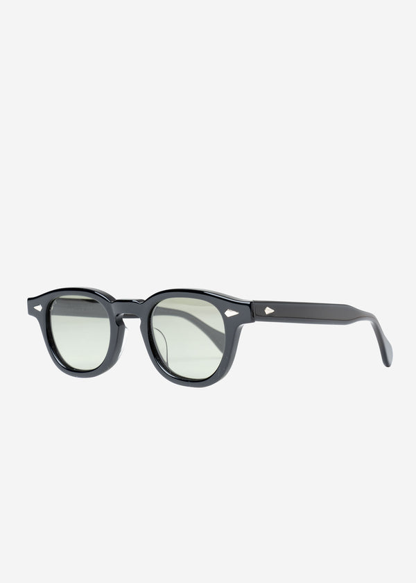Julius Tart×Bed&Brekfast Sunglasses in Black Frame×Green Lens