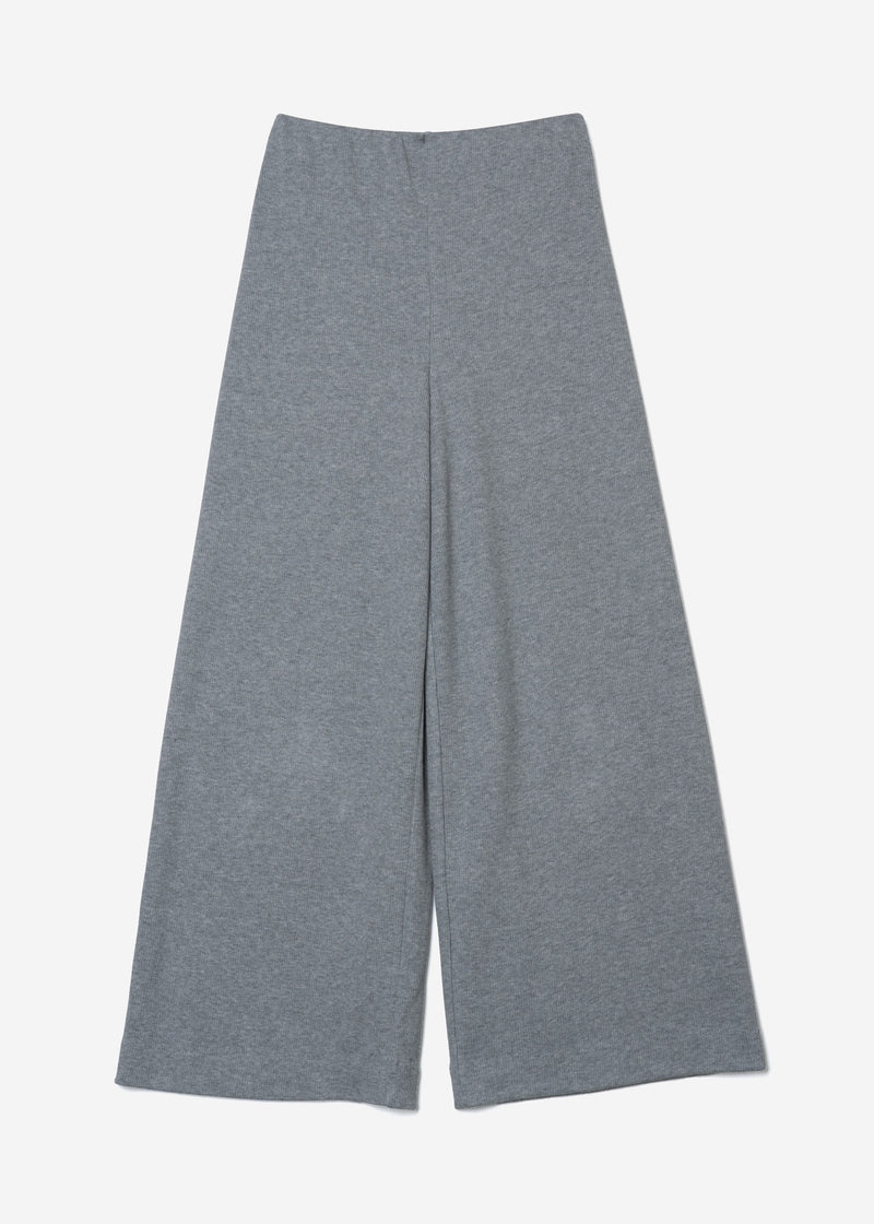Limited Soft Cotton Rib Pants in Gray