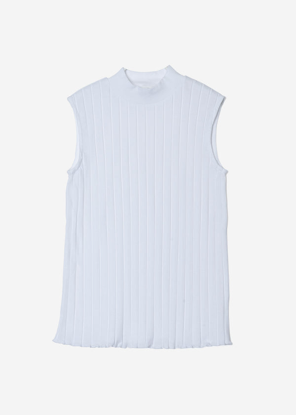 Wide Rib Sleeveless in White