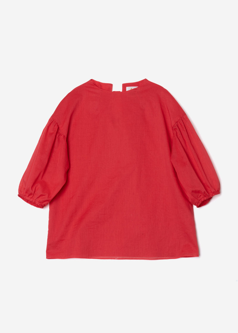 Vintage Washer Blouse in Red