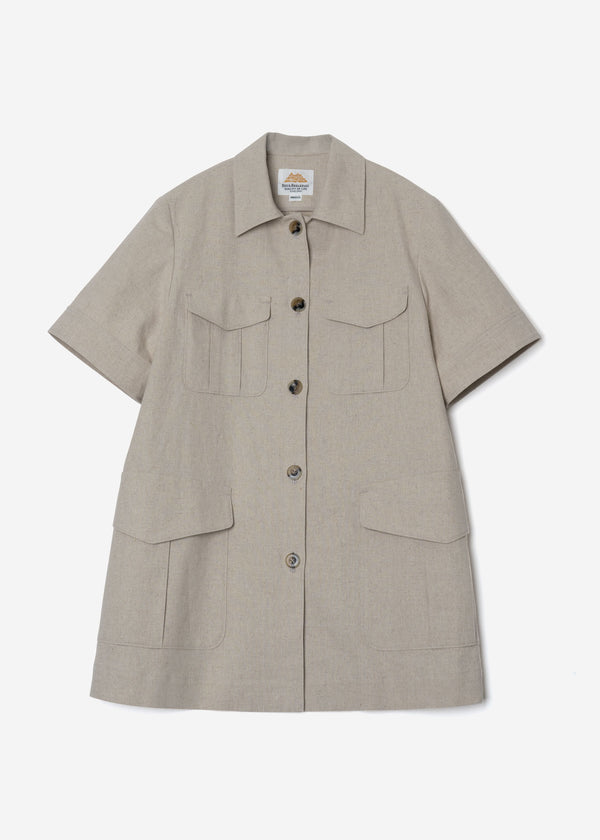 Soft Linen Canvas Jacket in Natural