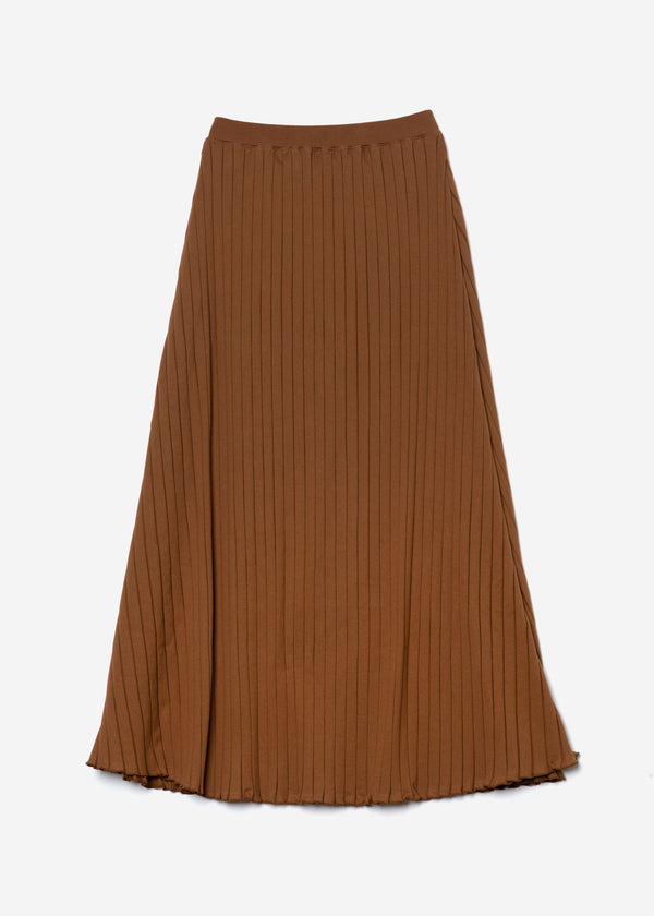 Wide Rib Skirt in Camel