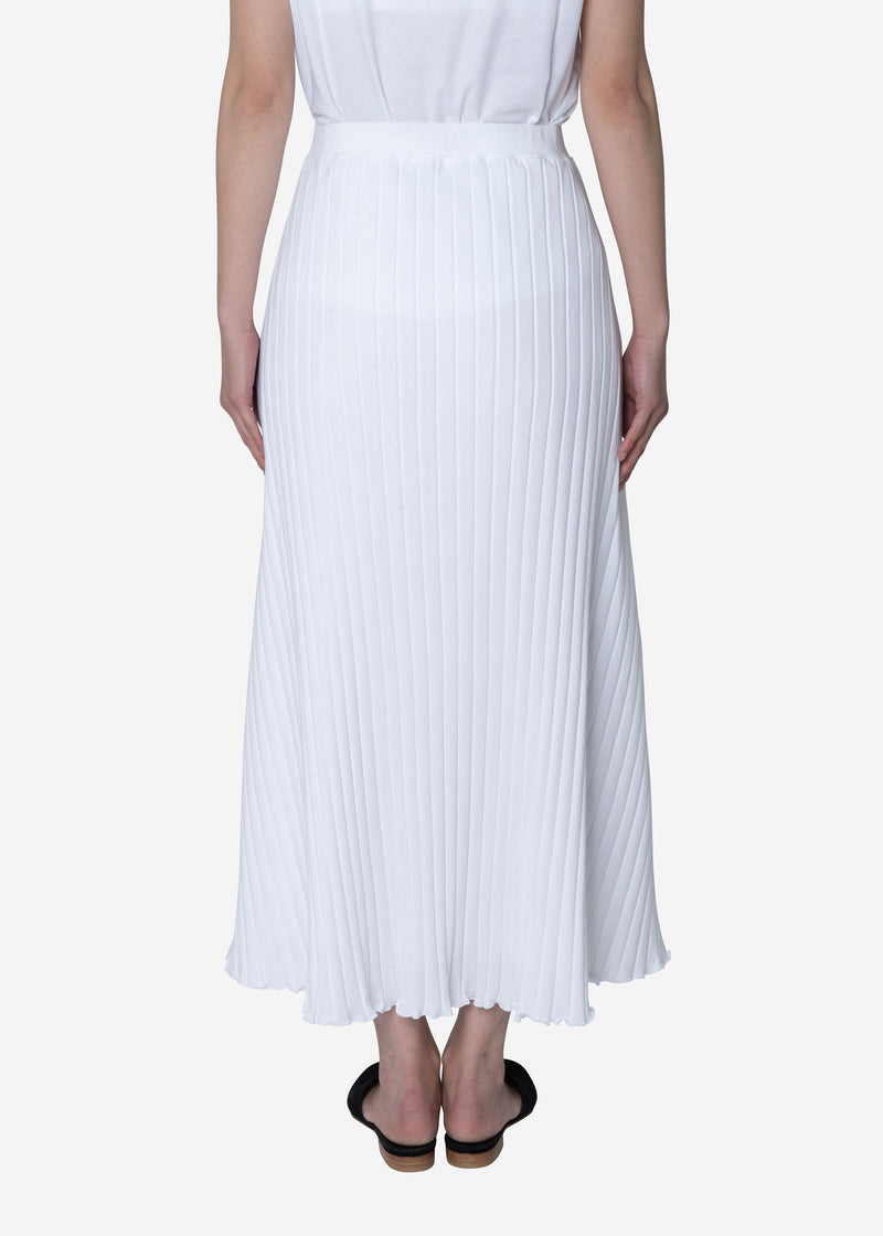 Wide Rib Skirt in White