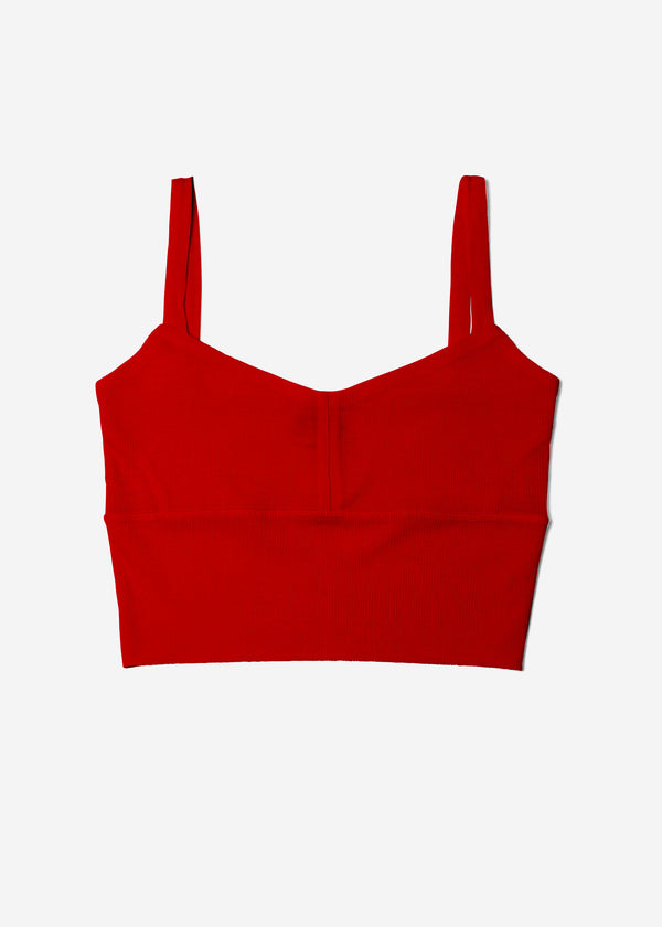 Cosmorama Wool Short Camisole in Red