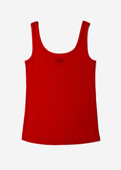 Cosmorama Wool Tank Top in Red