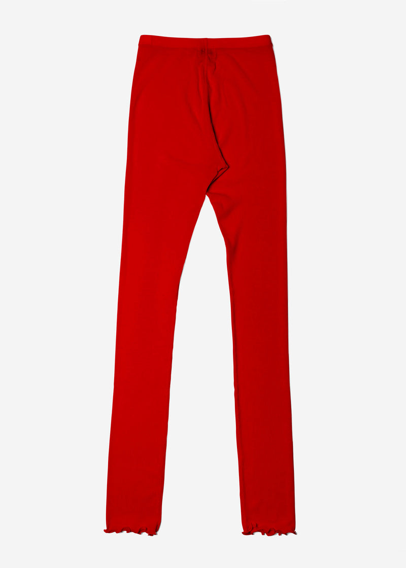 Cosmorama Wool Leggings in Red