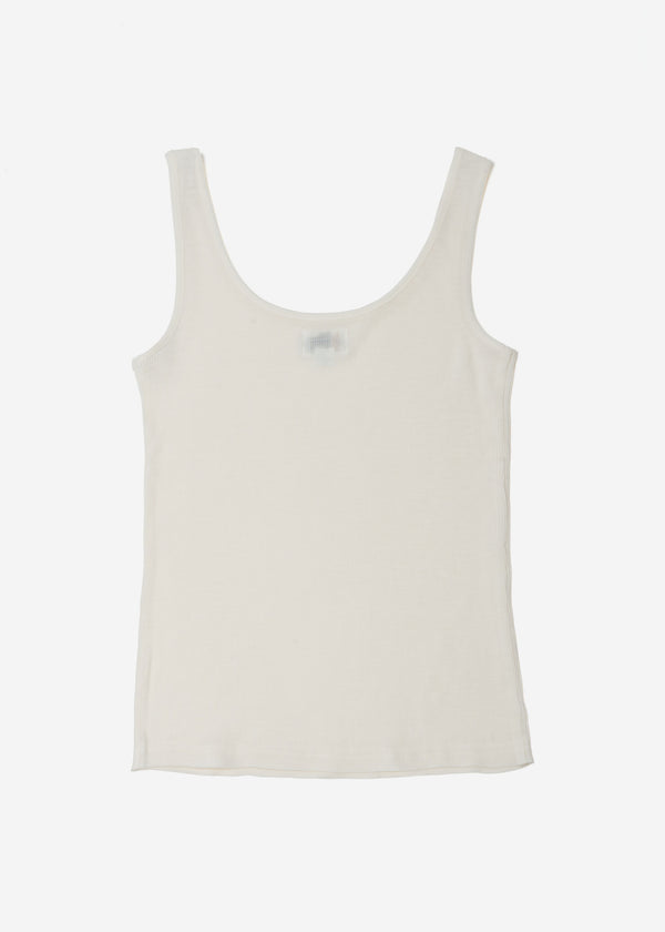 Cosmorama Wool Tank Top in Off White