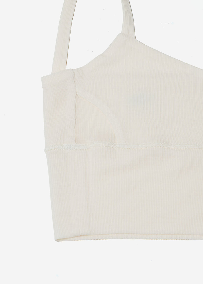 Cosmorama Wool Short Camisole in Off White
