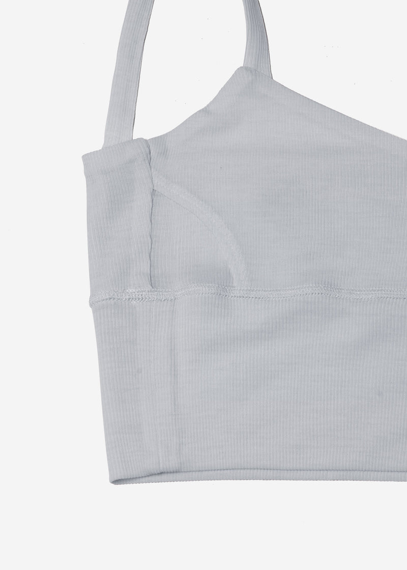Cosmorama Wool Short Camisole in Light Gray
