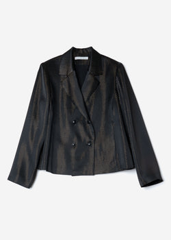 Sparkle Lame Shirts Jacket in Black