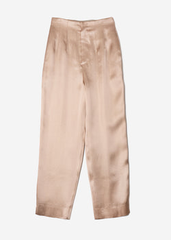 Sparkle Lame Pants in Beige