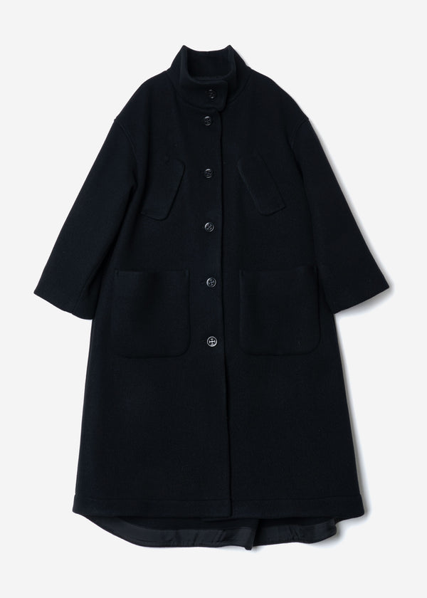 Sheep Reversible Long Coat in Black