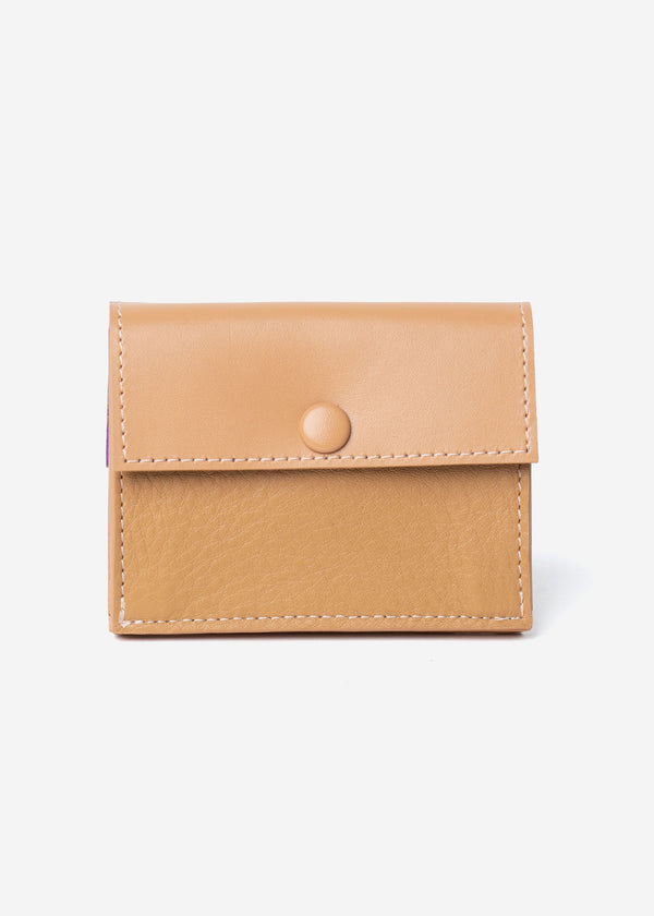 Color Scheme Mini Wallet in Beige