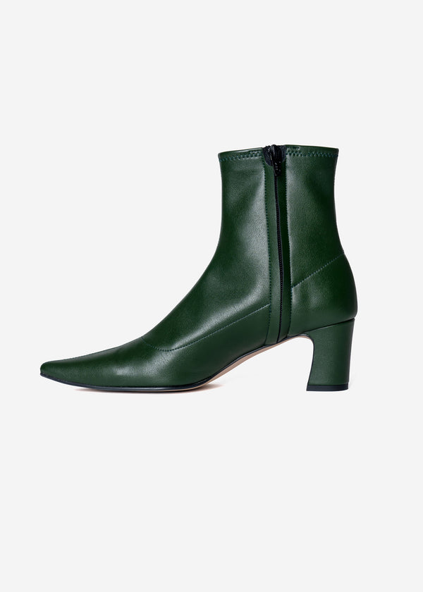 Stretch Short Boots in Green