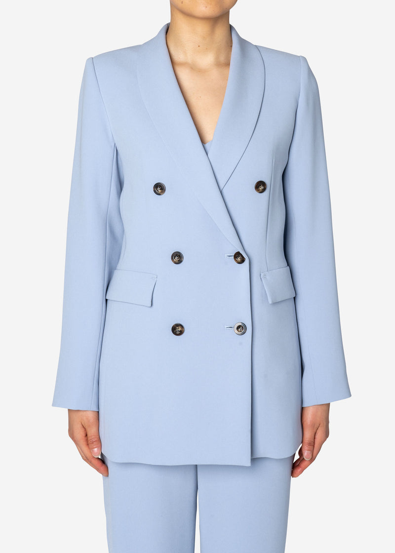 Double Stretch Cloth Jacket in Lt Blue