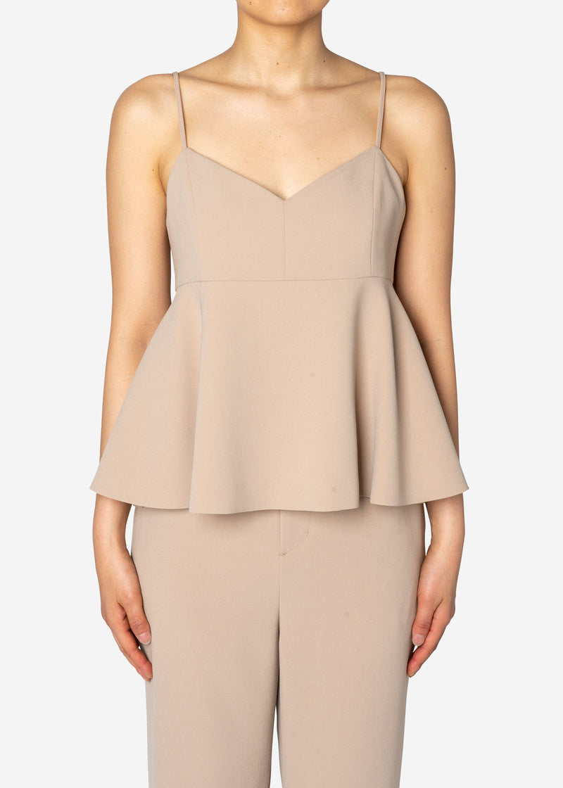 Double Stretch Cloth Camisole in Beige