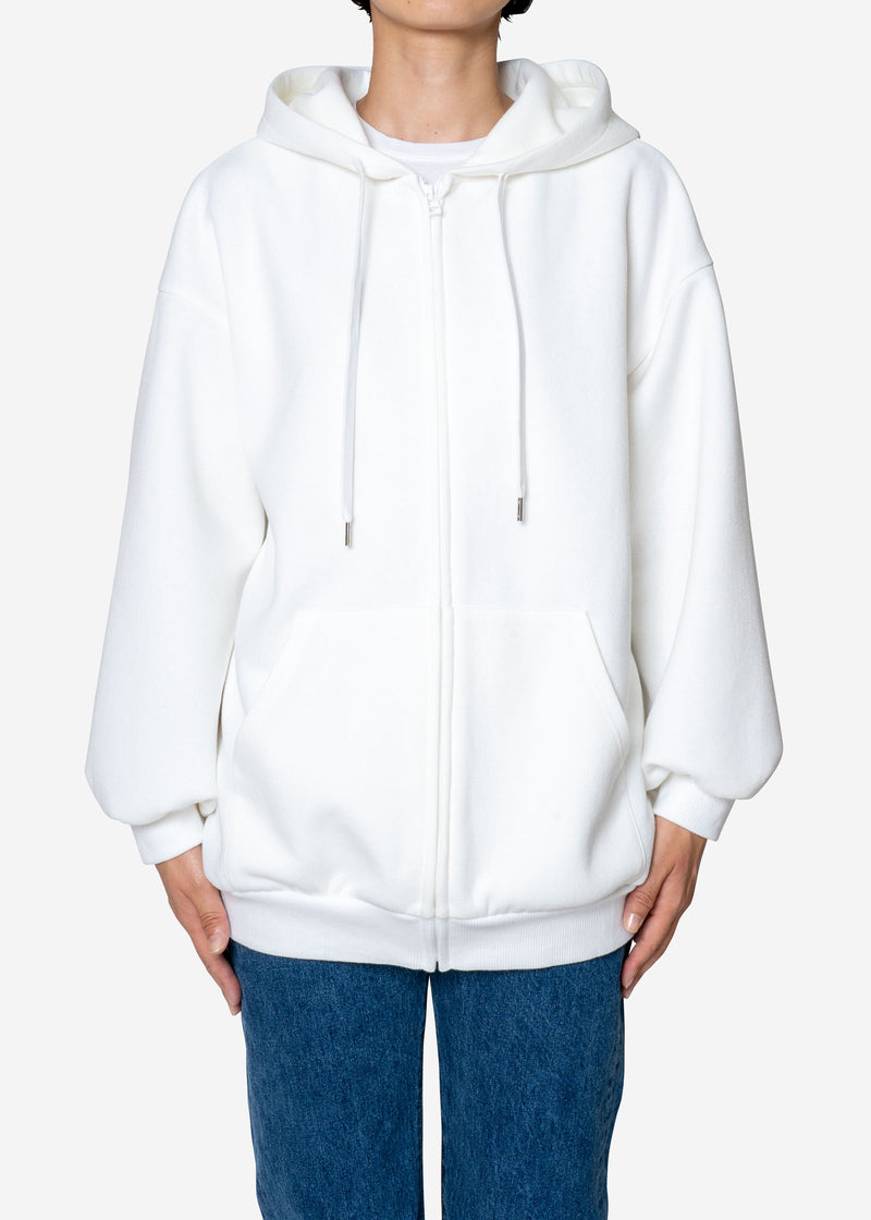 Limited Double Face Big Hoodie in Off White
