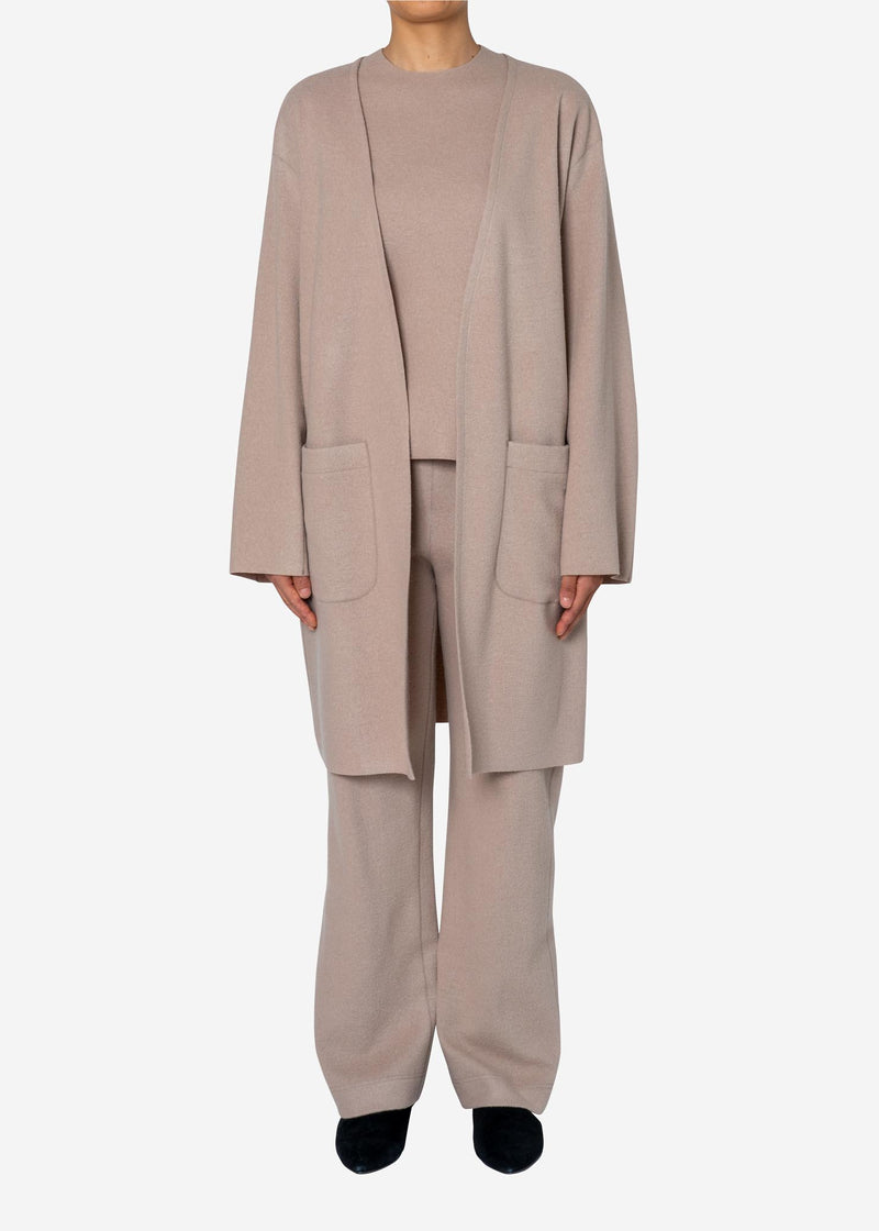 Balancircular Air Melton Pants in Beige